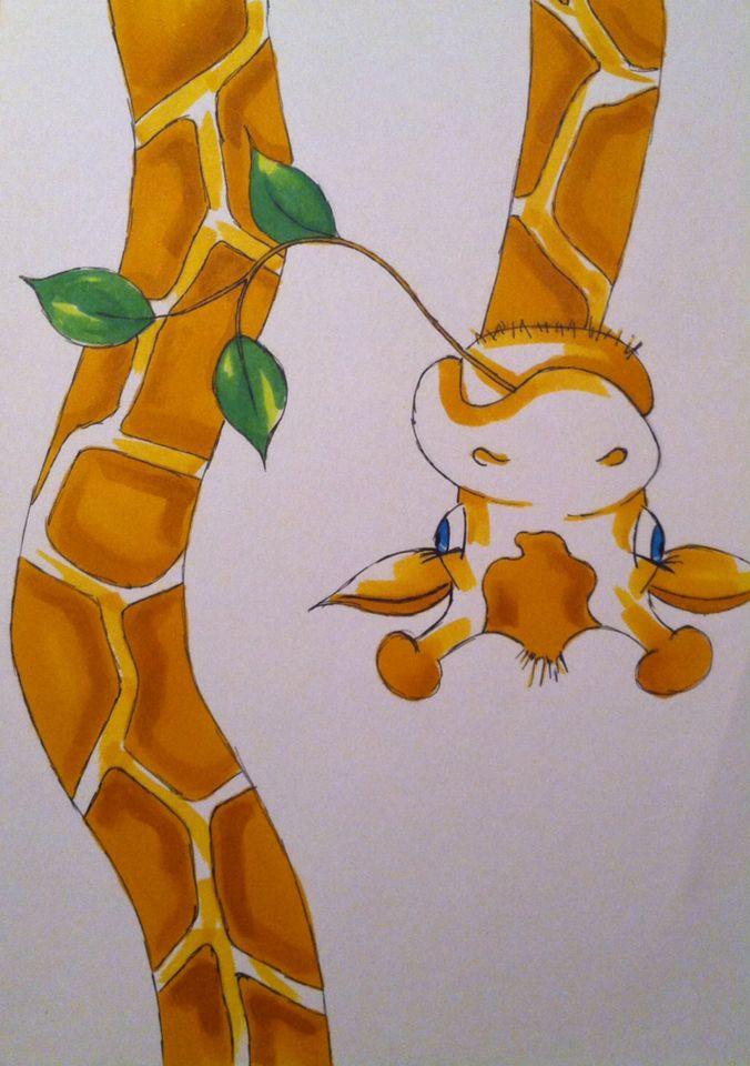 Tekening voor kinderen l giraffe l sneltekening l kindertekening, giraffe, drawing for children l kids l sweet l funny l inspiration l Marielle van leeuwen l mariellevanleeuwen@live.nl l 22-03-2015