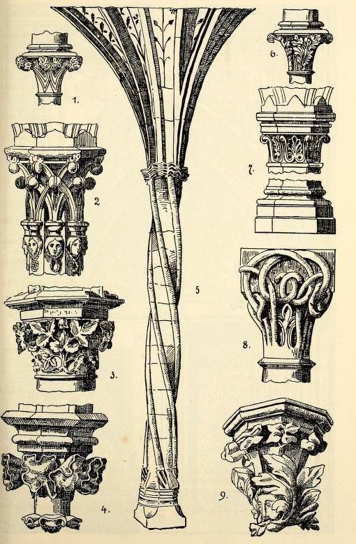 Gothic Style Columns Mas