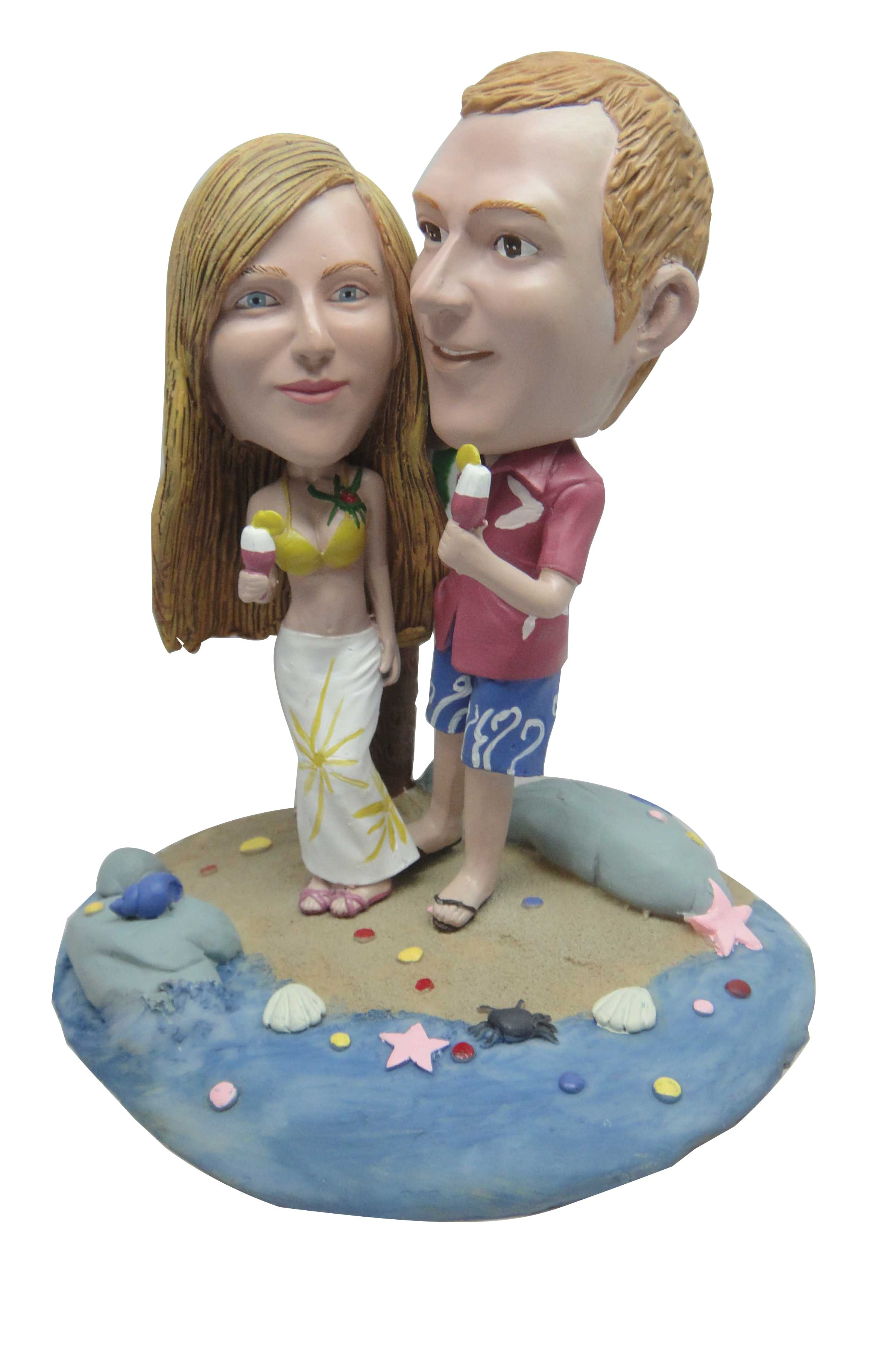 Awesome collection of bobblehead cake toppers, personalized cake toppers, wedding gift, personalized wedding gift, custom bobbleheads and many more at 1minime.