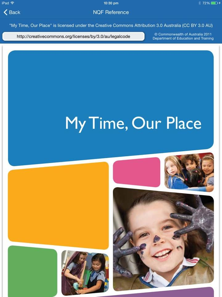 Mtop A Link To My Time Our Place Is Located Within The App Which Means You Will Need A Connection To Th No Time For Me After School Care Learning Framework