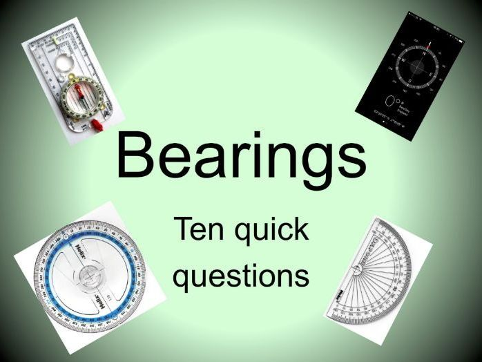 Maths GCSE Bearings. Two differentiated worksheets plus plenary ...