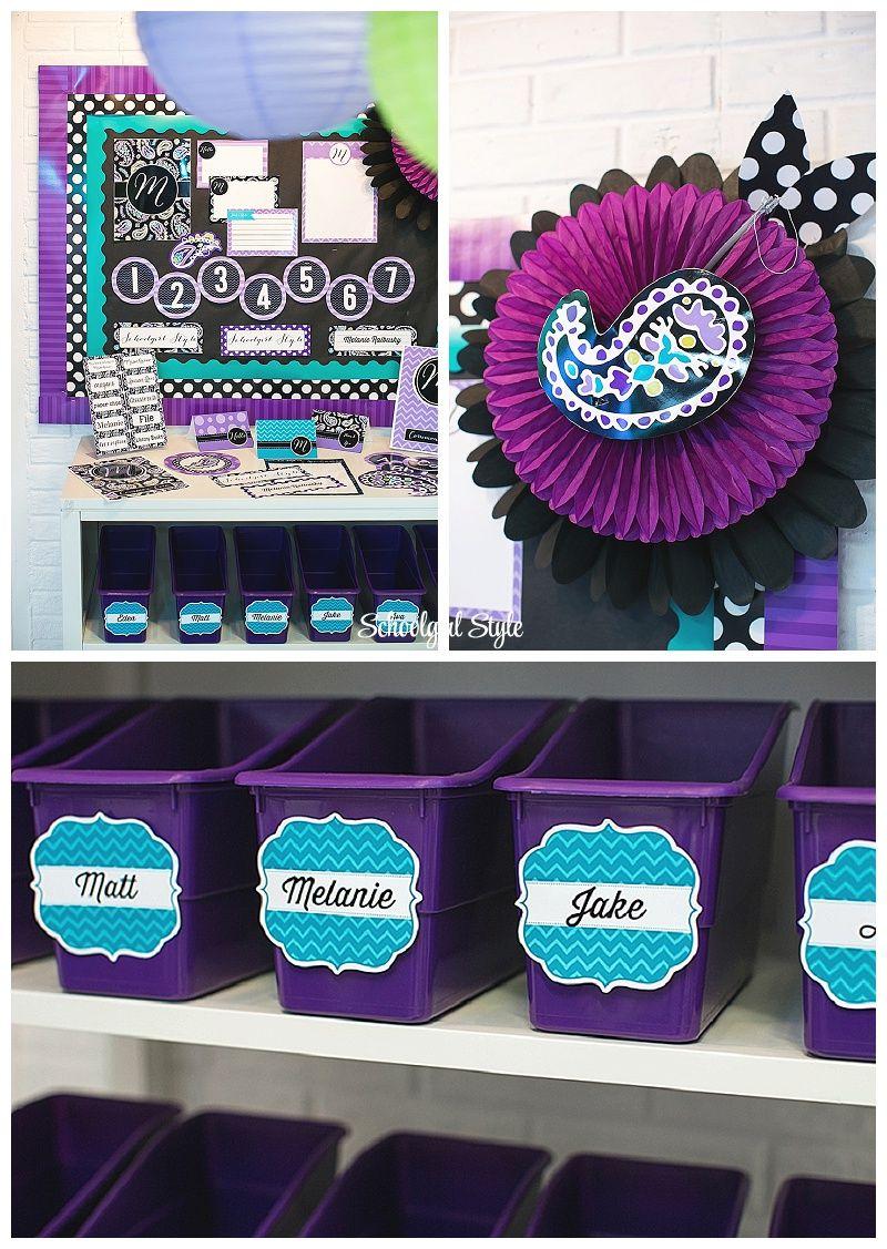 Purple Classroom Decorations