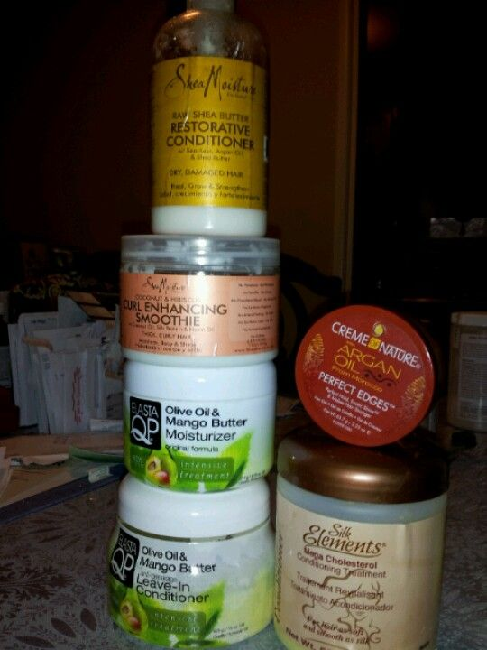 Shea Moisture Elasta Qp Silk Elements Creme Of Nature Perfect Edges Shea Moisture Products Mango Oil Olive Oil Butter