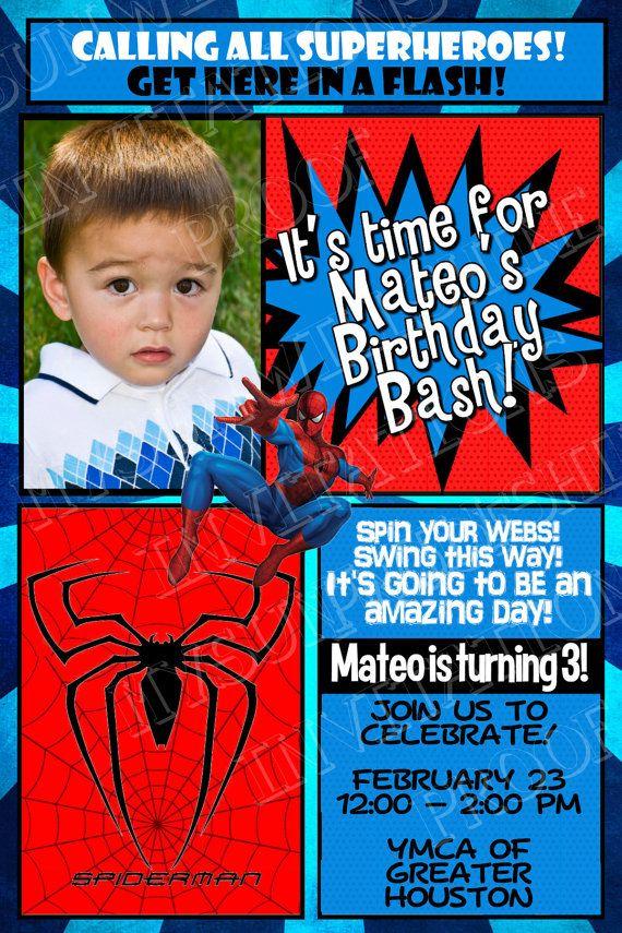 Superheroes Birthday Invitation Batman by MySunWillShineDesign ...