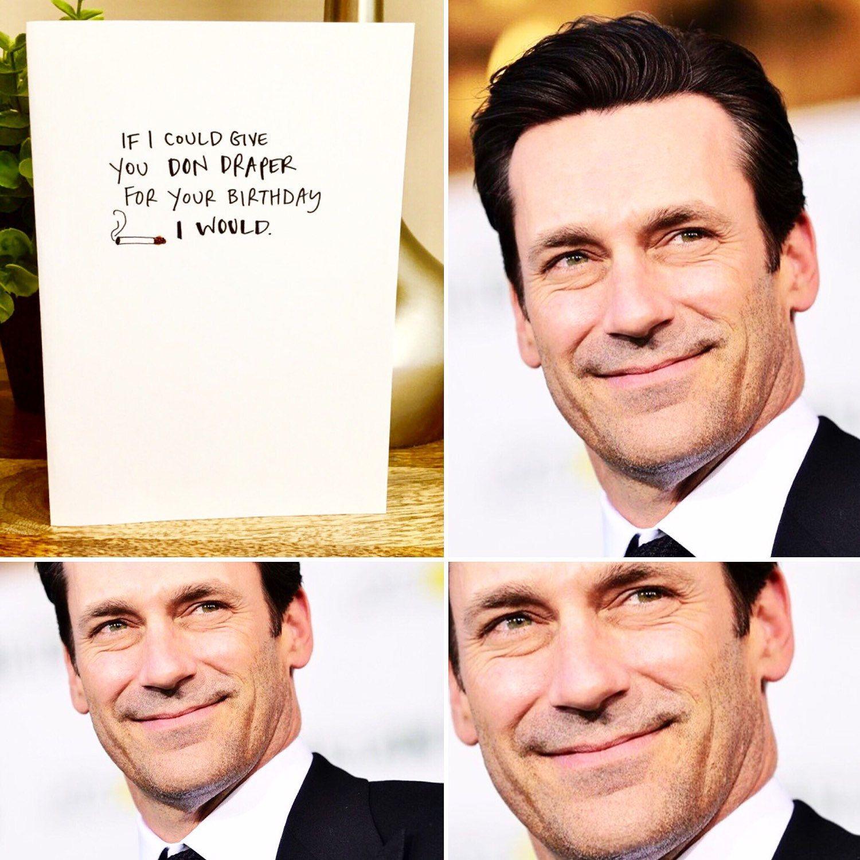 Funny birthday card mad men don draper birthday card for her – Mad Men Birthday Card