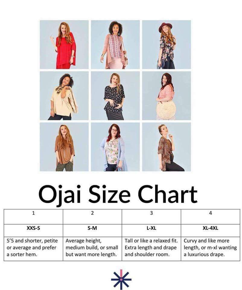 Piphany Ojai and Chanel sizing chart! Just 4 sizes and most people