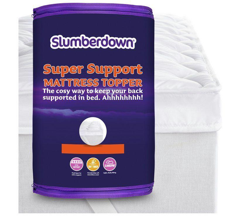 Buy Slumberdown Super Support Mattress Topper Double Mattress