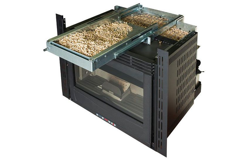 Wood pellet fireplace insert COMFORT MINI CRYSTALL Wood pellet stoves /  fireplaces are great, loads of heat and the fuel is cheap, I mean really r… - Wood Pellet Fireplace Insert COMFORT MINI CRYSTALL Wood Pellet