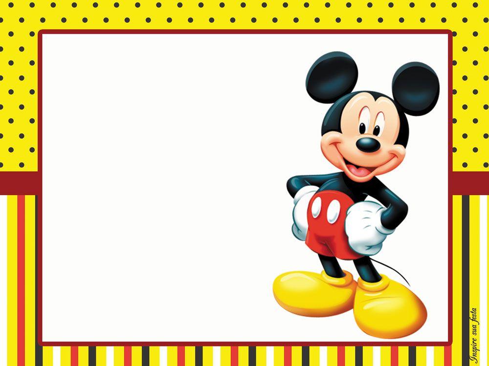 Mickey Mouse Kit Festa Infantil Gratis Para Imprimir Mickey