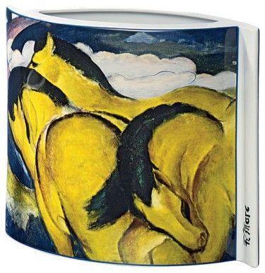 """Porzellanvase """"Kleine gelbe Pferde"""" (1912), Motiv von Franz Marc - Hannover - Porzellanmalerei › Kunstplaza"""