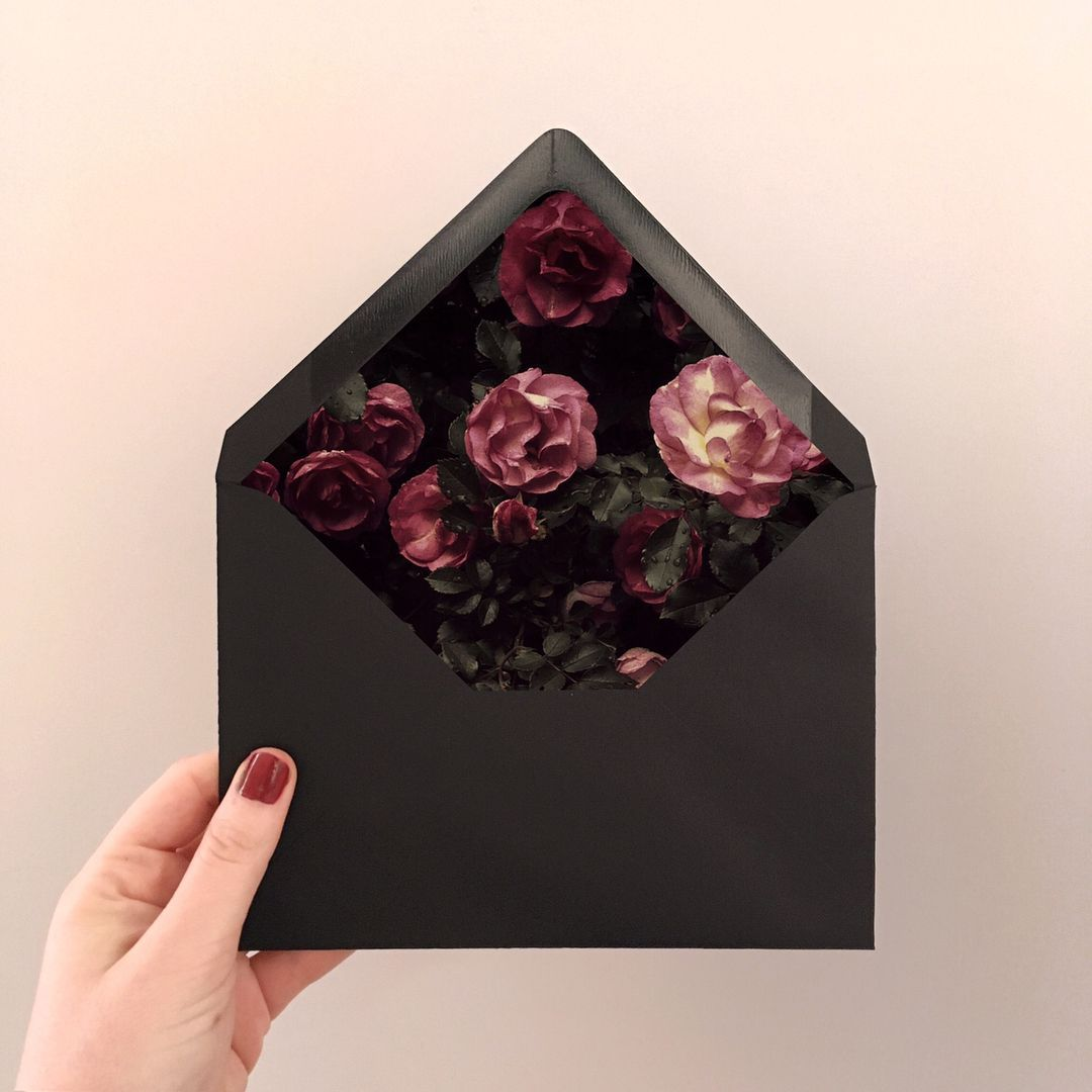 diamond wedding invitations%0A Moody   Magical   Floral envelope liners for wedding invitations  By  Imaginary Beast