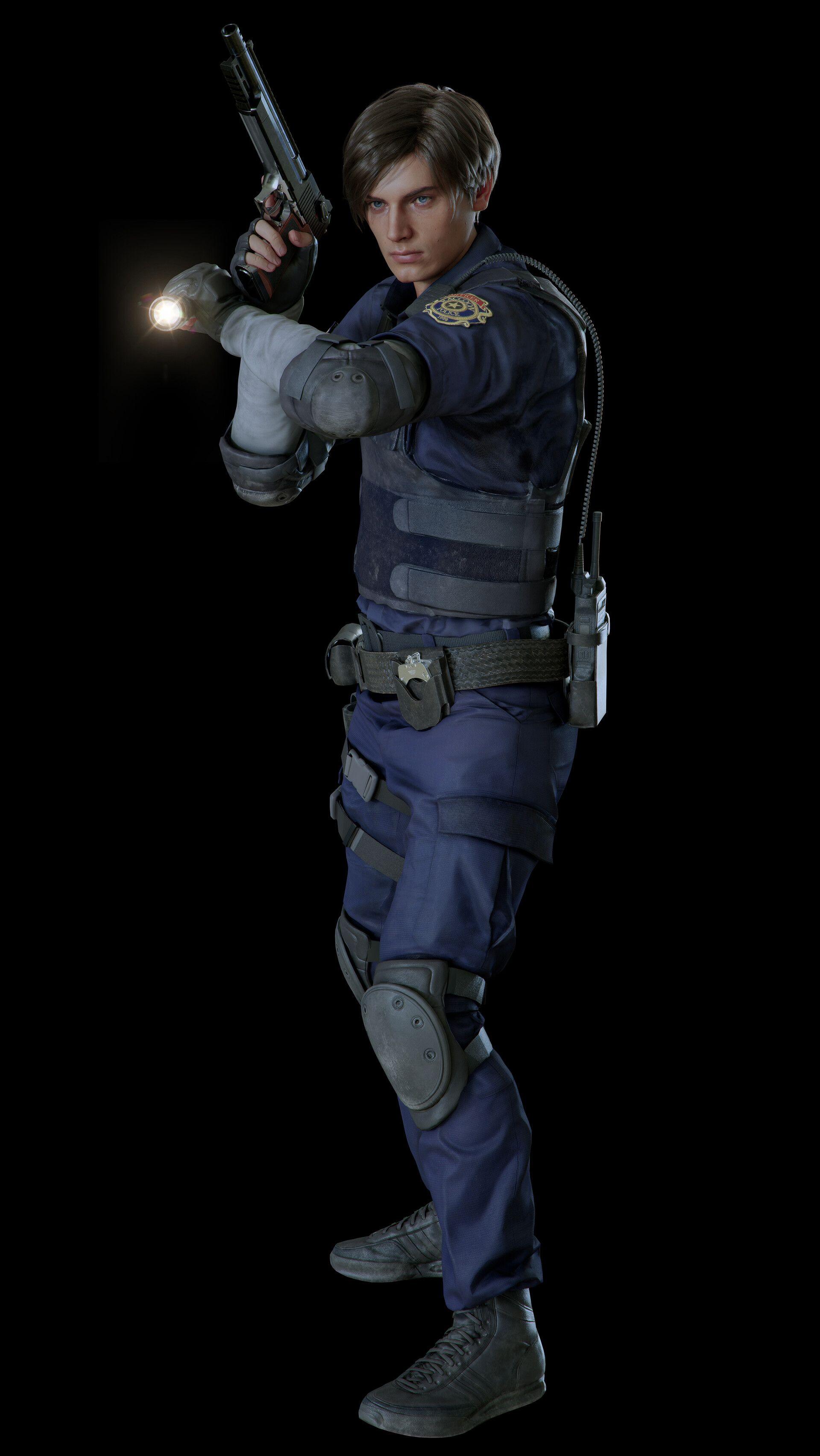 Artstation Resident Evil 2 Leon Artworks Riccardo Minervino