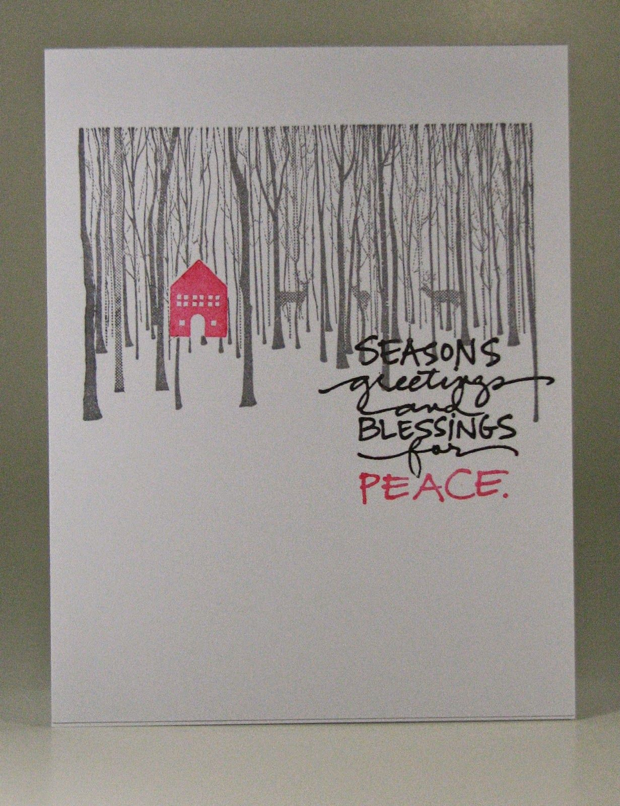 Stempel Spass: One Layer Simplicity Challenge