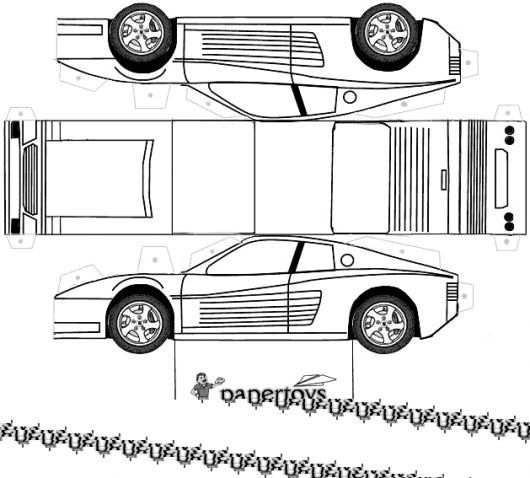 Over 10 Luxury 3d Paper Car Templates For Children Paper