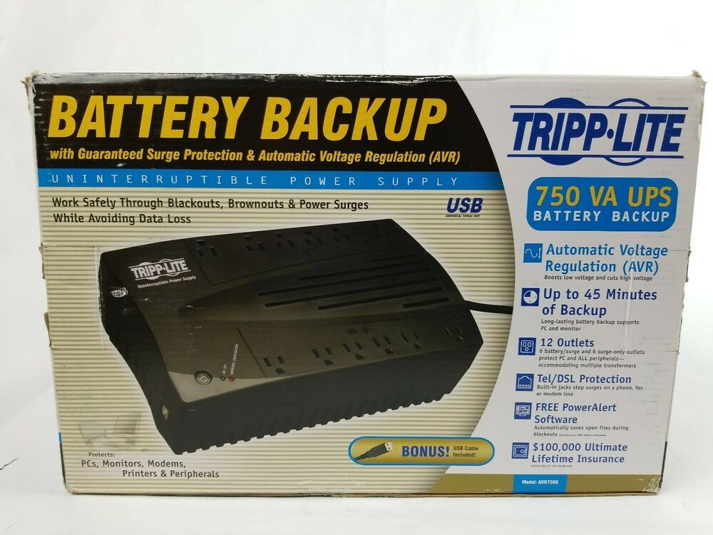 eBay #Sponsored TRIPP LITE AVRX750U 750 VA UPS Battery Backup Power