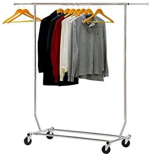 Simple Houseware Commercial Grade Clothing Garment Rack Chrome