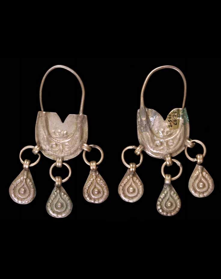 4bdd60da5 Caucasus - possibly Georgia or Armenia, Lori, Alaverdi | Pair of earrings  from the Chechen people; silver alloy. // ©Quai Branly Museum.
