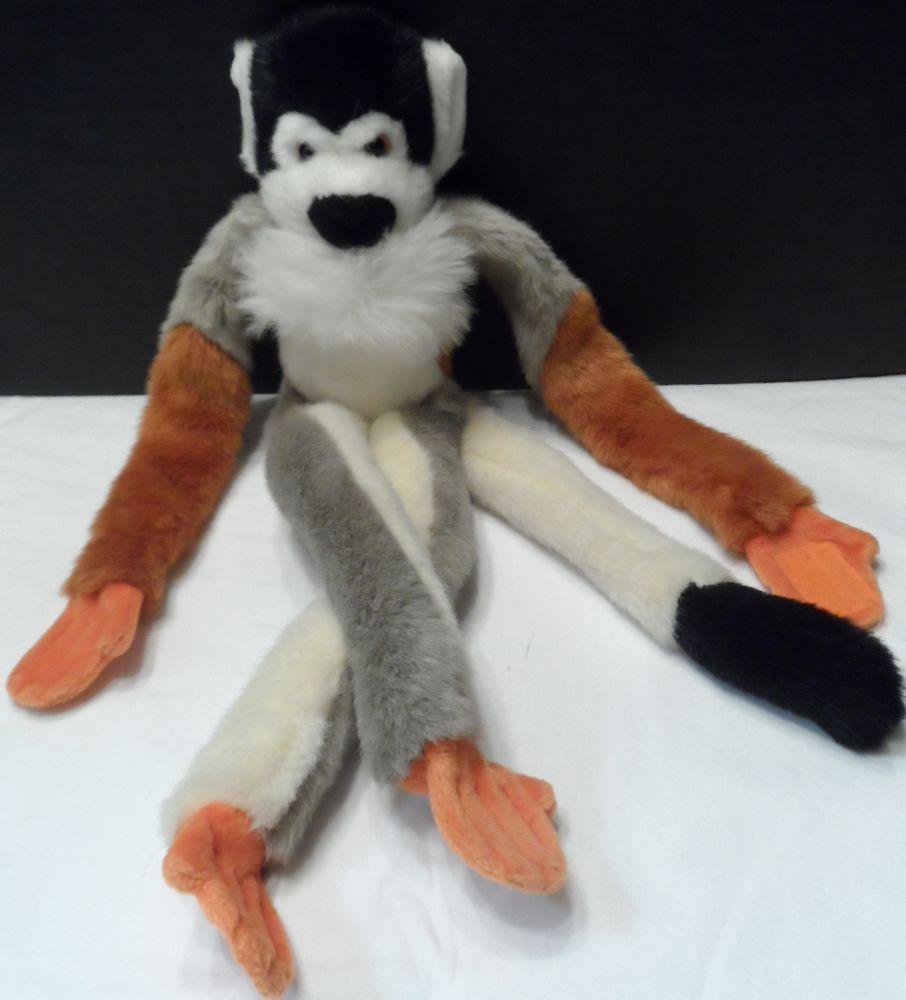 Hanging Monkey Plush Stuffed Animal Magic Tangerine Press 16 Velcro