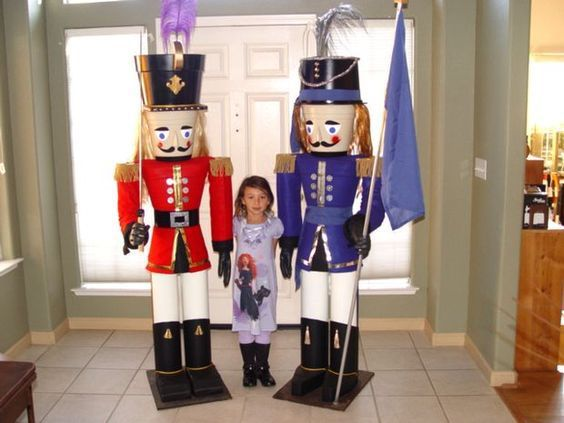building a life size nutcracker may not be the least expensive holiday decoration you make for the project is