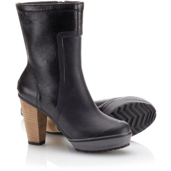 Zapatos negros Sorel Scotia para mujer C4XJl