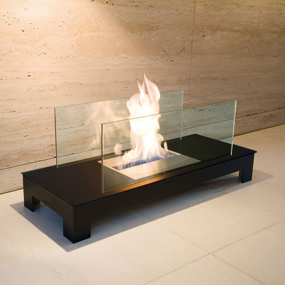 Chimenea Bioetanol Floor Flame Radius Design Chimeneas Modernas