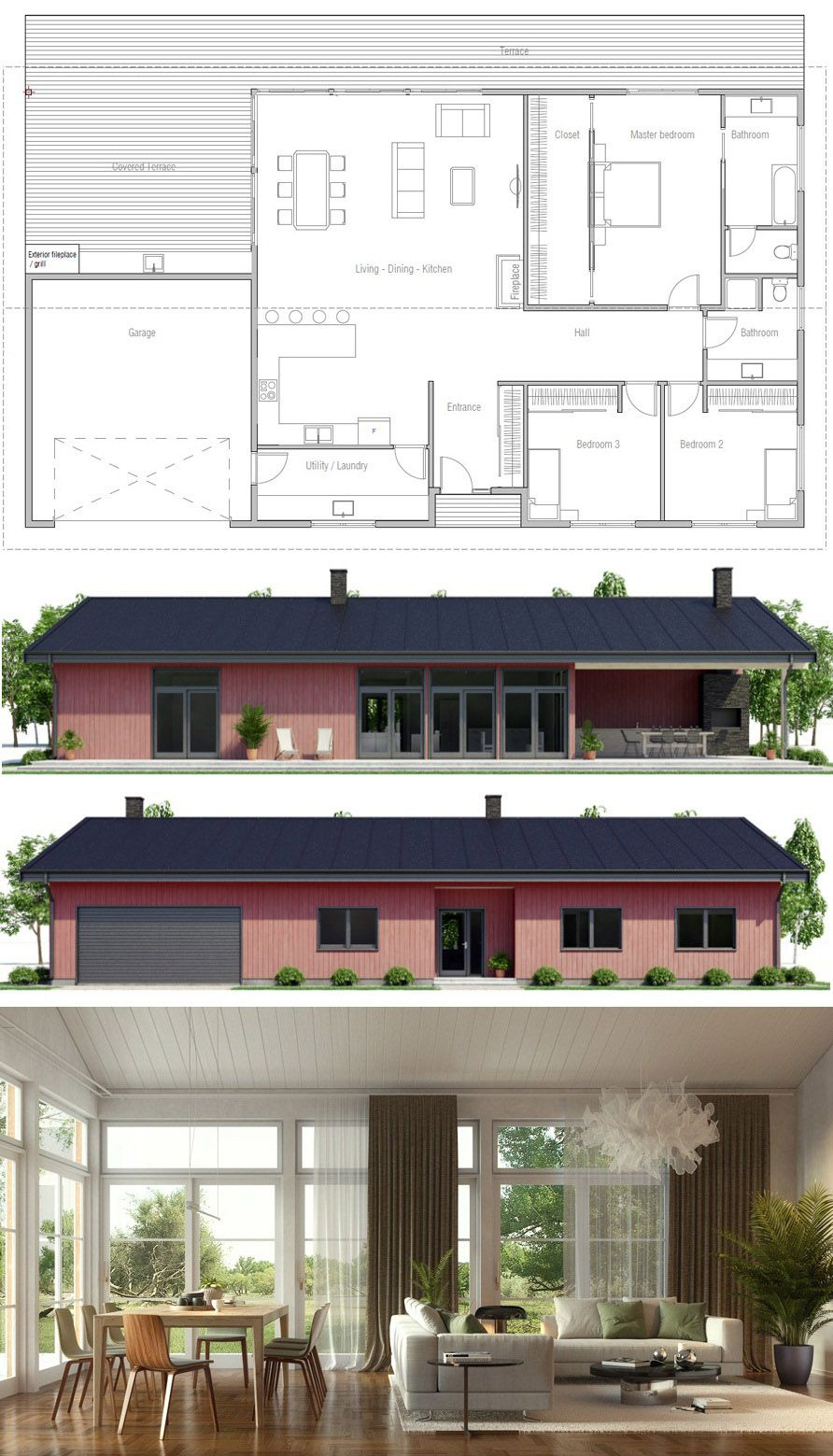 Shipping container house plan