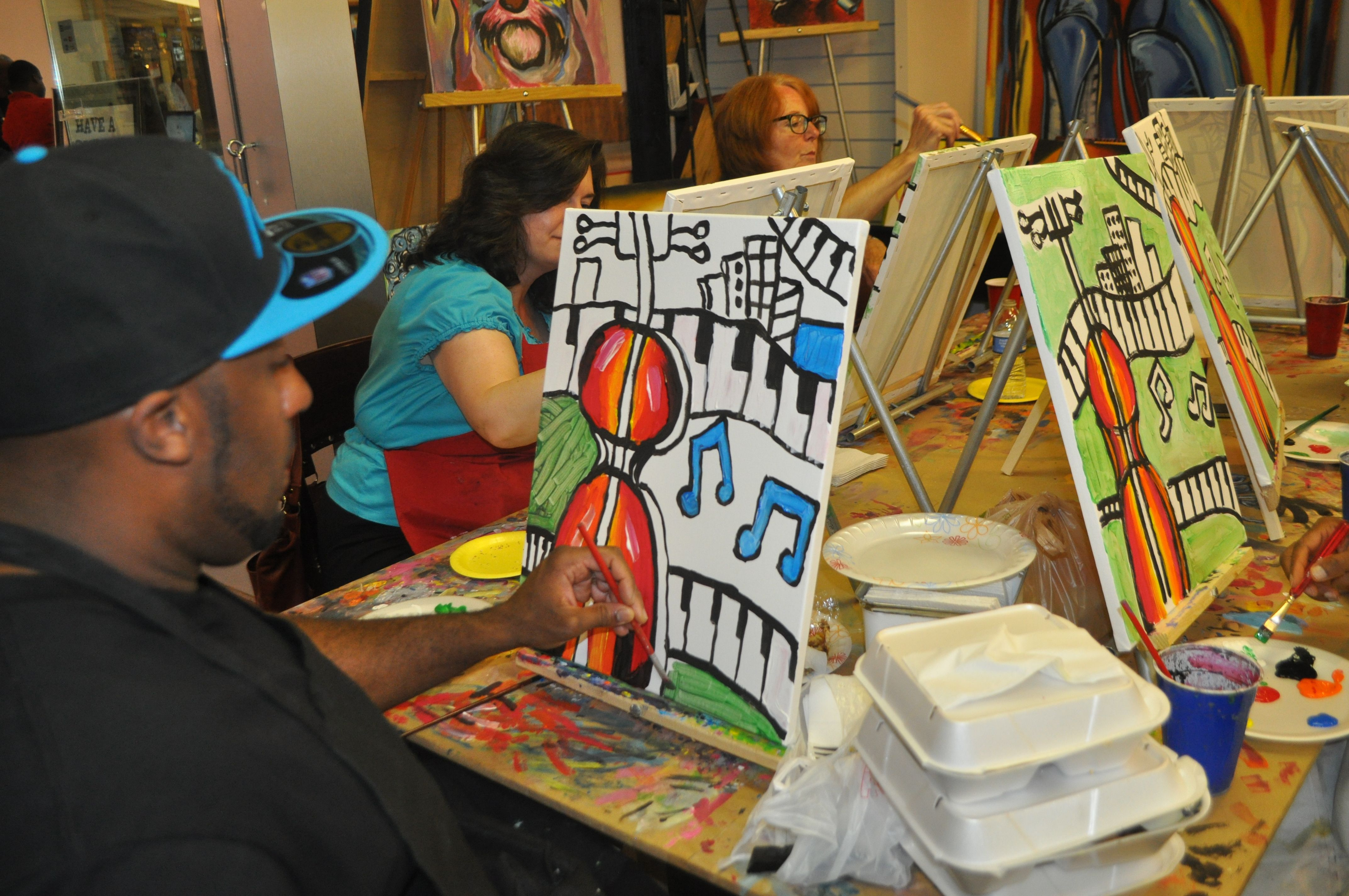 Acrylic painting art class painting class art painting