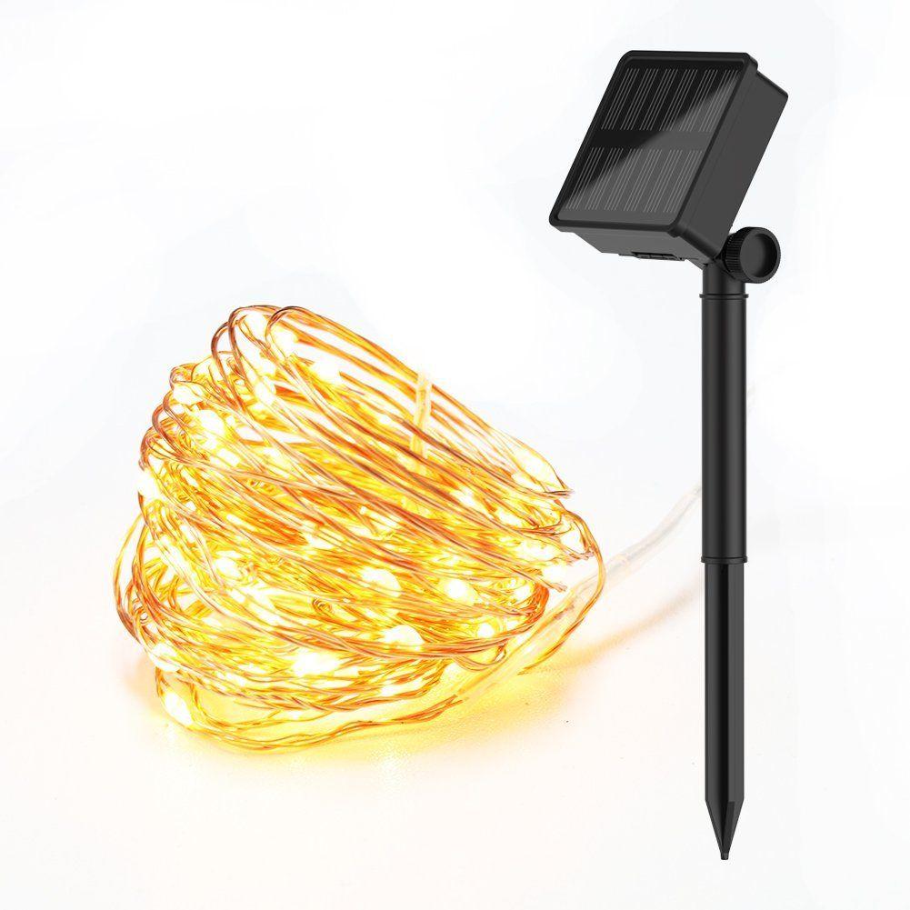Simenmax Solar String Light 100 LEDs [2 Modes]Starry String Lights ...