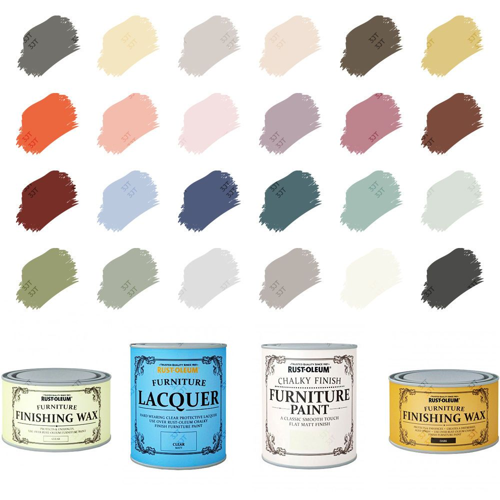 Rust Oleum Chalky Chalk Furniture Paint Matt Finishing Wax