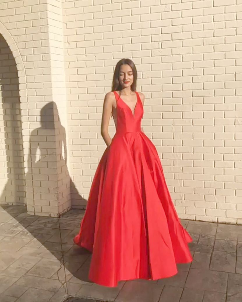 Modest Prom Dresses Ball Gown An Prom Dresses For Short Hair Red Prom Dress Elegant Prom Dresses Sleeveless Elegant Prom Dresses