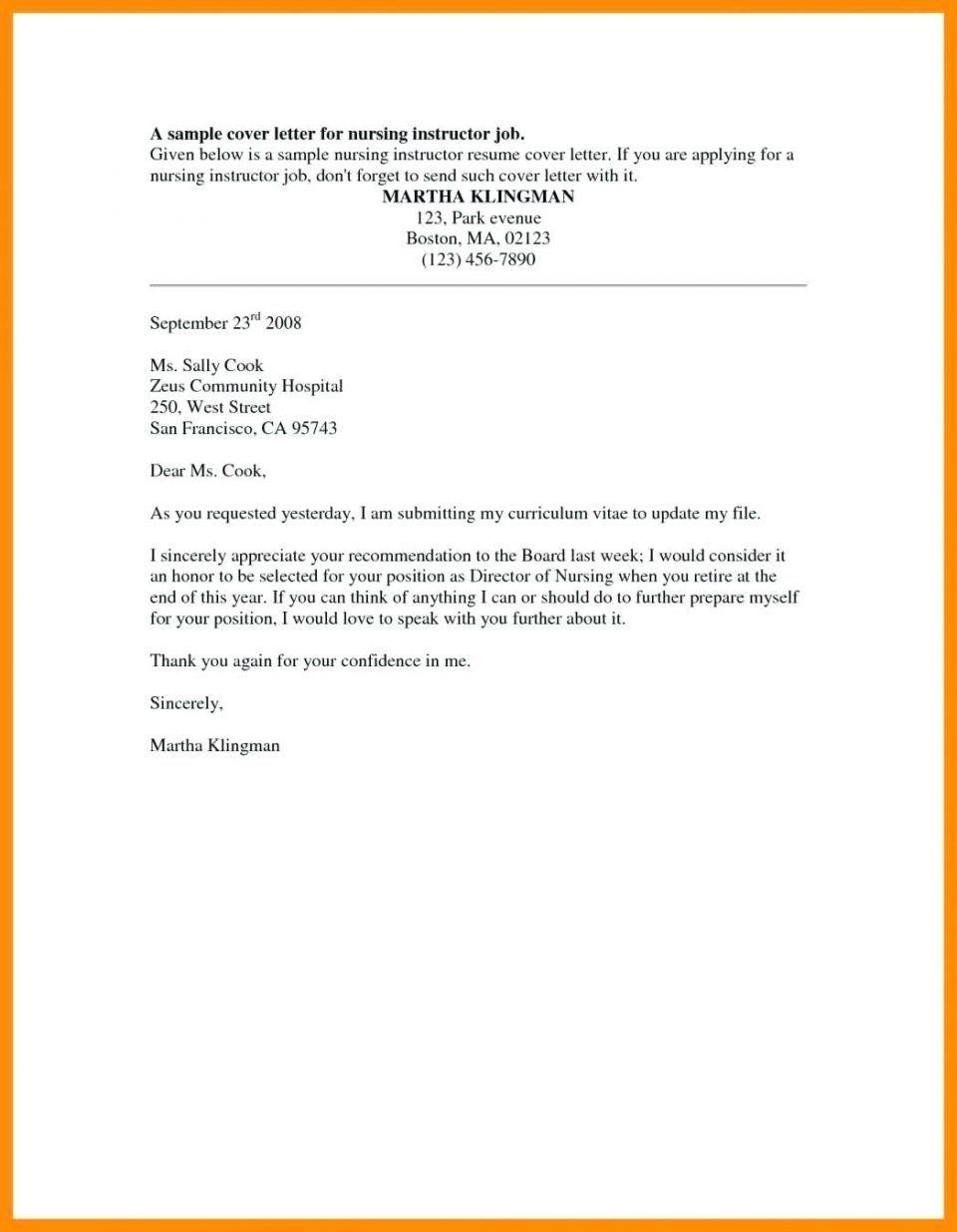 Nursing Student Resume Cover Letter Examples Sample Resume Cover