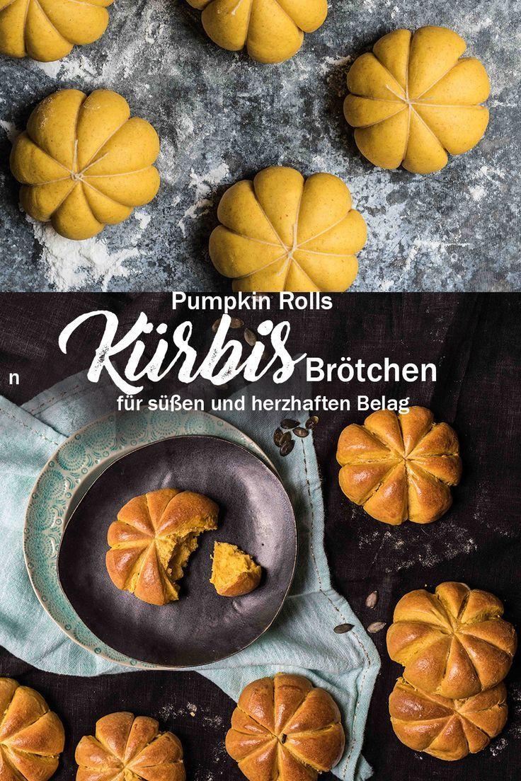 weiche k rbis br tchen in k rbisform pumpkin rolls mit. Black Bedroom Furniture Sets. Home Design Ideas
