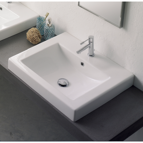 Square White Ceramic Drop In Sink Drop In Bathroom Sinks Square