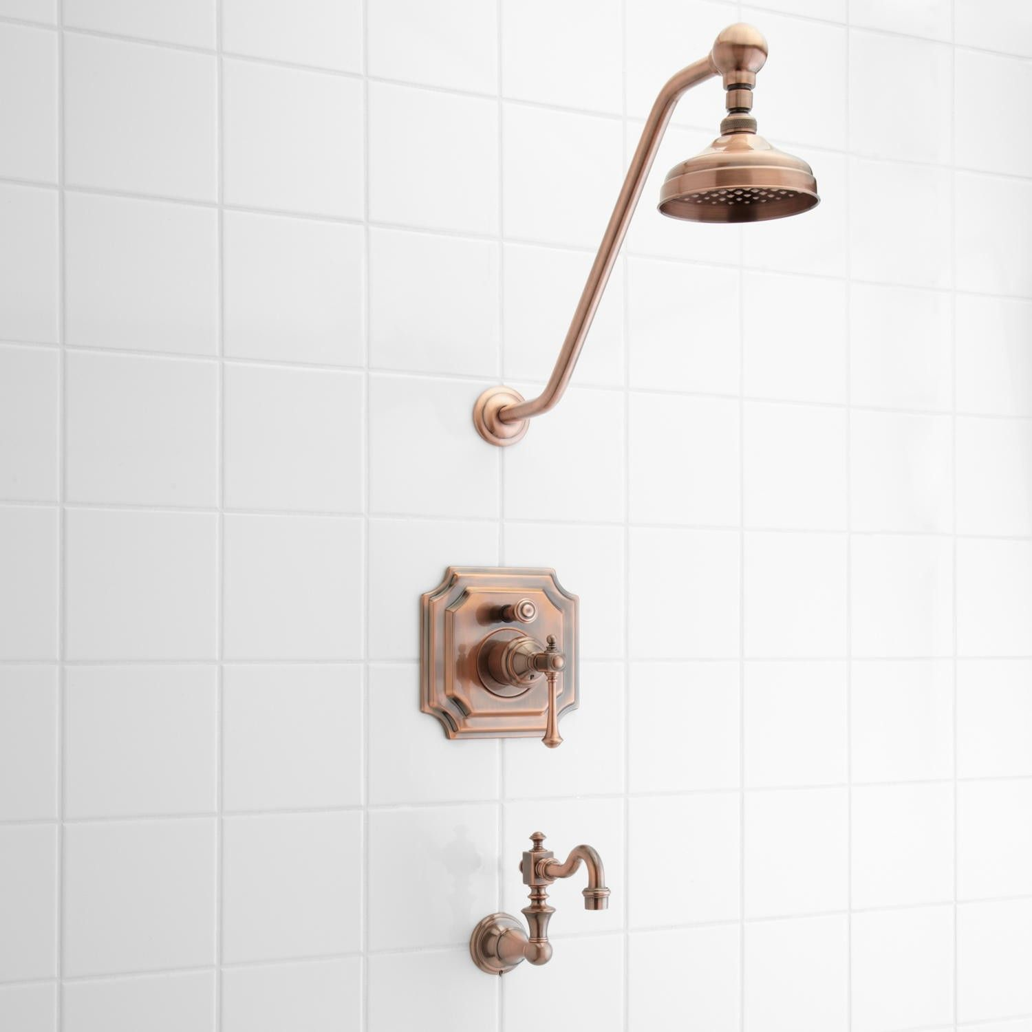 Vintage Pressure Balance Tub and Shower Faucet Set with Lever Handle ...