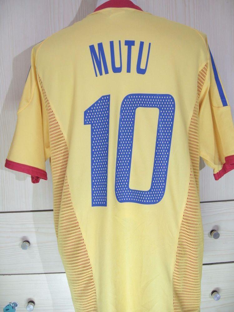 Mutu Adrian Romania Euro 2004 Adidas Vintage Football Player Shirt Soccer  Jersey  6a0fa5525