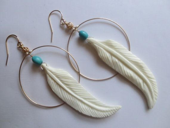 Jewelry Making Ideas Bone Feather Earring Design
