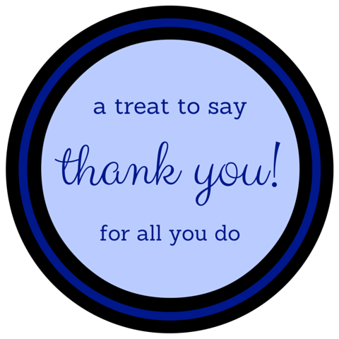 Free Printable Treat Bags for Police Appreciation Week