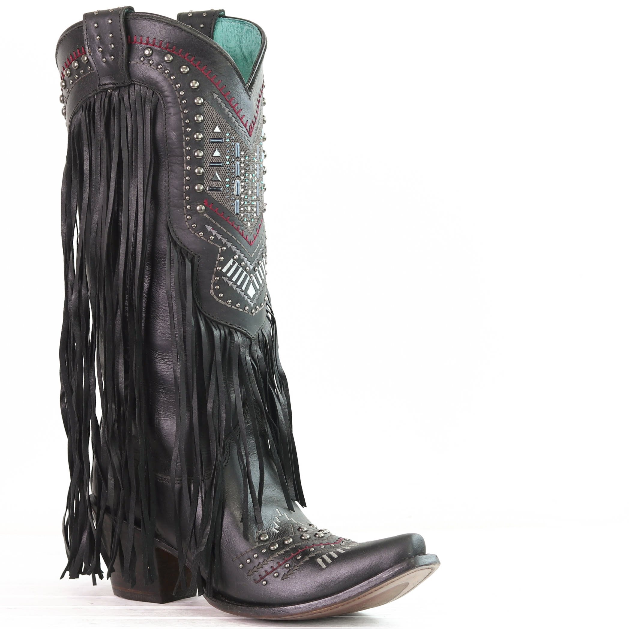 b2f9a21d650 Black Swarovski Crystal and Fringe Boot | Boots, boots and shoes ...