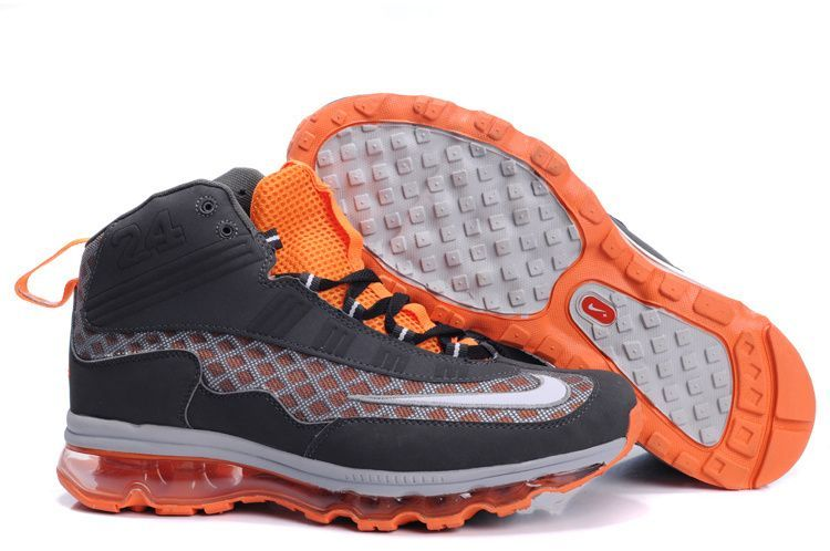 84649cdb6b ... New mens nike air max ken griffey jr grayorange shoes Nike Air Max JR  Fall 2011 ...