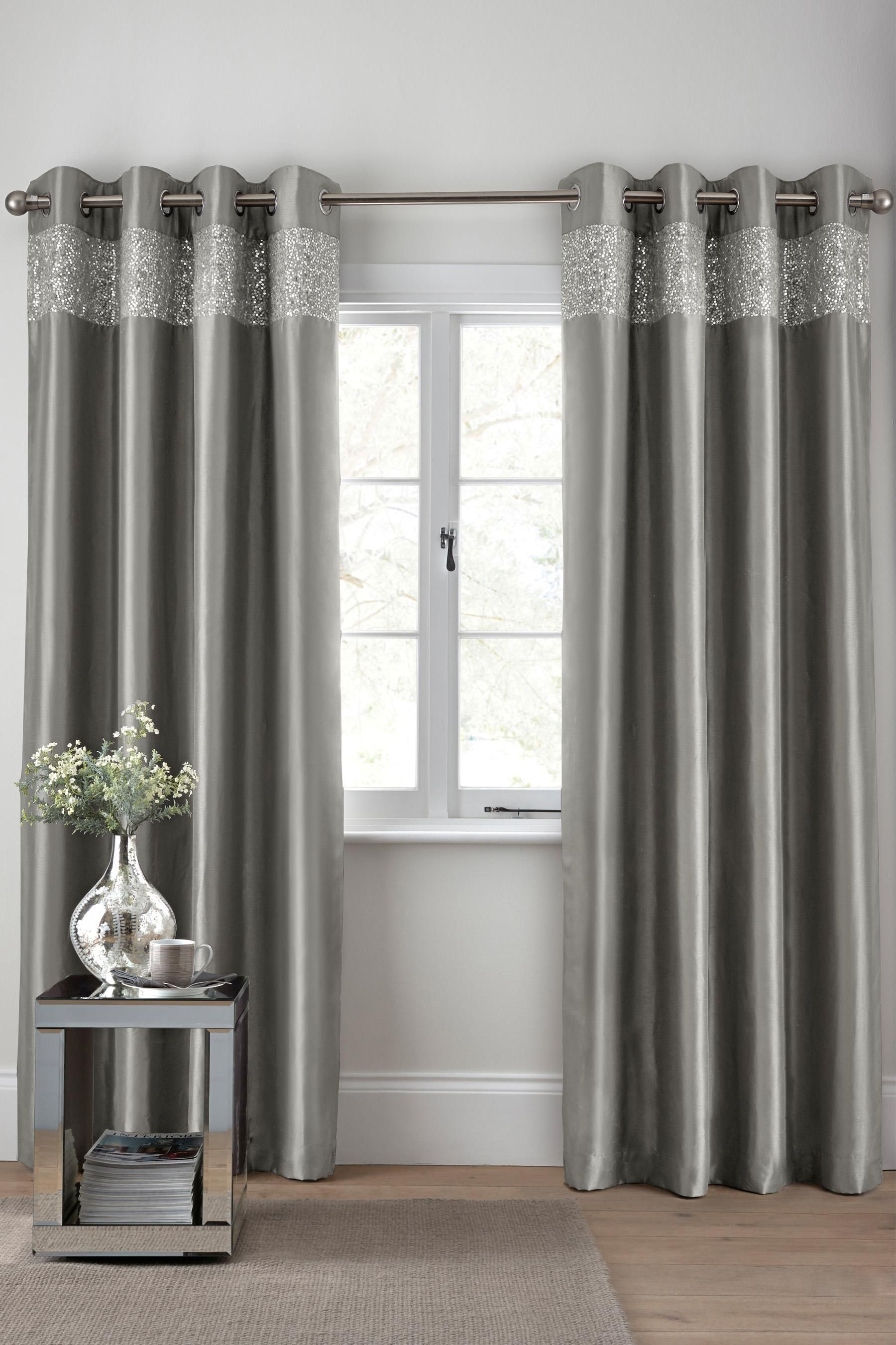 Cute kids bedroom curtains ideas and color options pmc interiors - Buy Shimmer Band Eyelet Curtains From The Next Uk Online Shop
