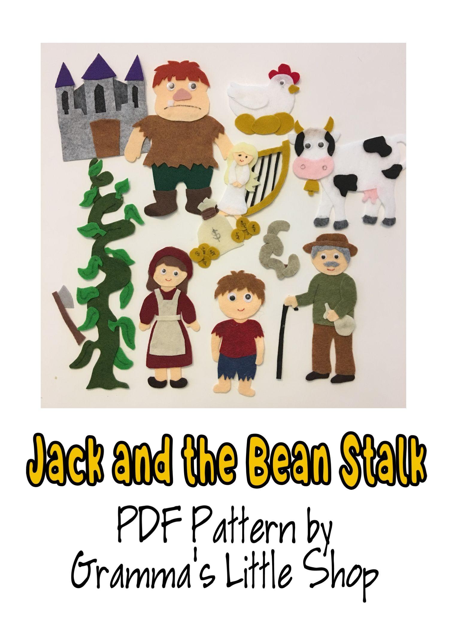 Jack And The Beanstalk Felt Story Pattern Teaching In The Home Felt Stories Jack And The Beanstalk Felt Board Stories