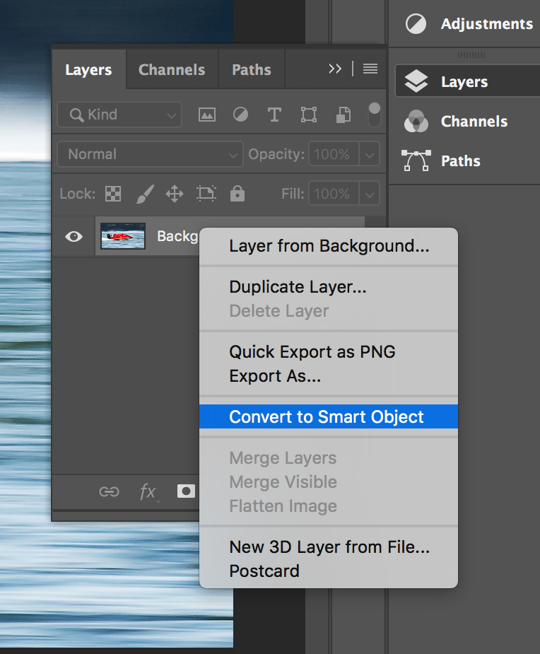 How to add motion blur in photoshop