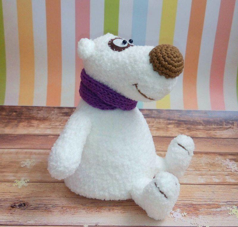 Polar bear amigurumi pattern | Bären, Waschbär und Häkeltiere