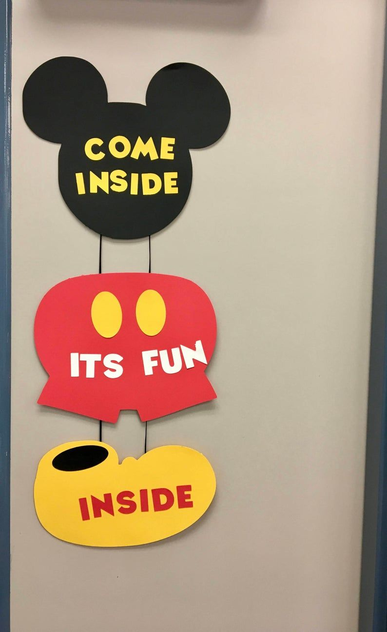 Mickey Mouse Birthday Party Mickey Mouse Birthday Door Signs Disney Birthday Mickey Mouse