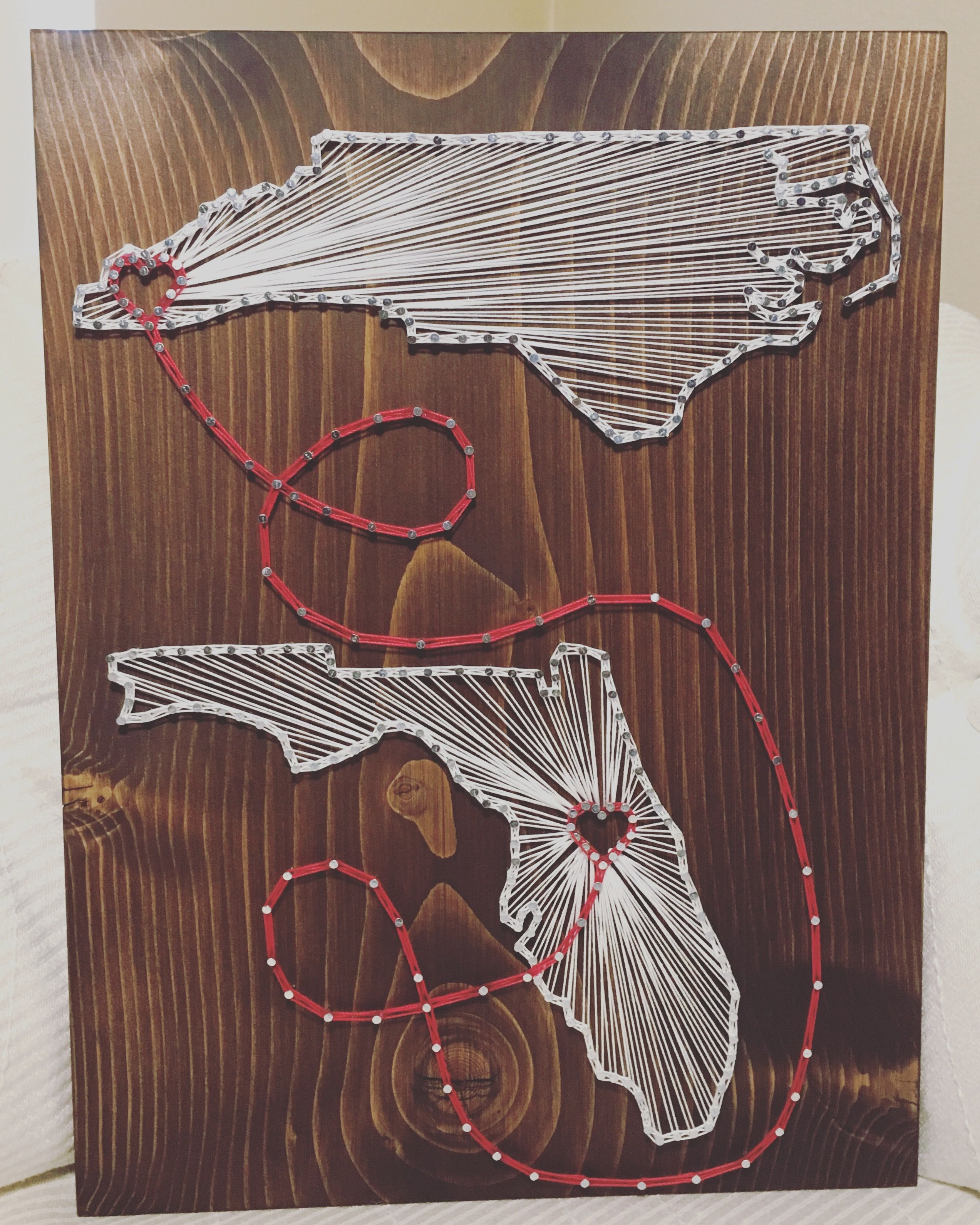 Moving Wall Art custom two states countries string art sign, 2 state wall art