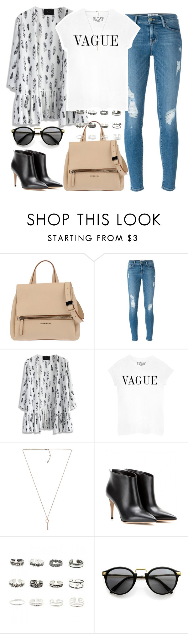 """""""Untitled #70"""" by ailynlovespayne ❤ liked on Polyvore featuring Givenchy, Frame Denim, Chicwish, Michael Kors, Gianvito Rossi and Retrò"""