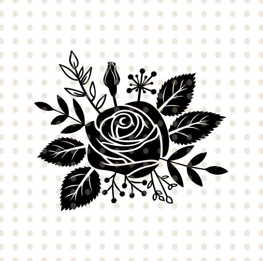 Flower Rose Svg Flower Svg Flower Ornaments Svg Flower Clipart