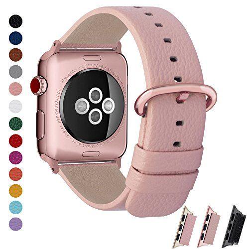 Fullmosa Bracelet Apple Watch 42mm/38mm pour Homme \u0026 Femme Yan iwatch  Bracelet en Cuir