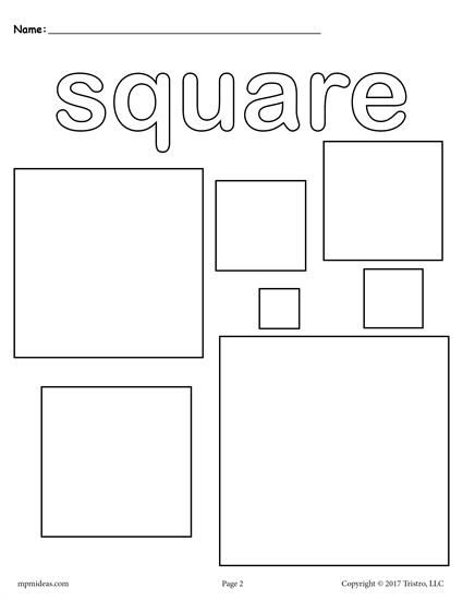 squares coloring pages for preschool - photo#1
