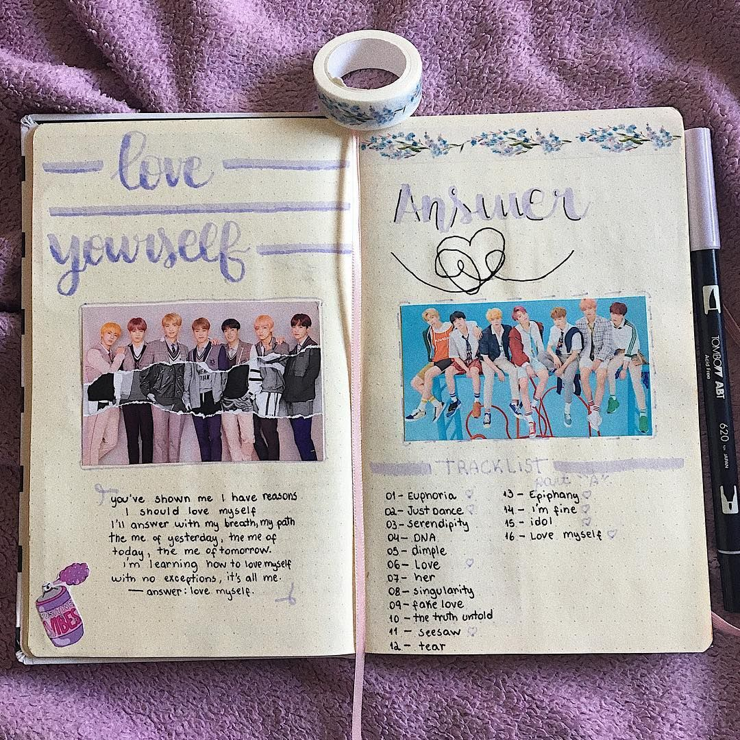 Pin By Julianna On Bts Things Aesthetic Bullet Journal Ideas Pages Journal Bts Book